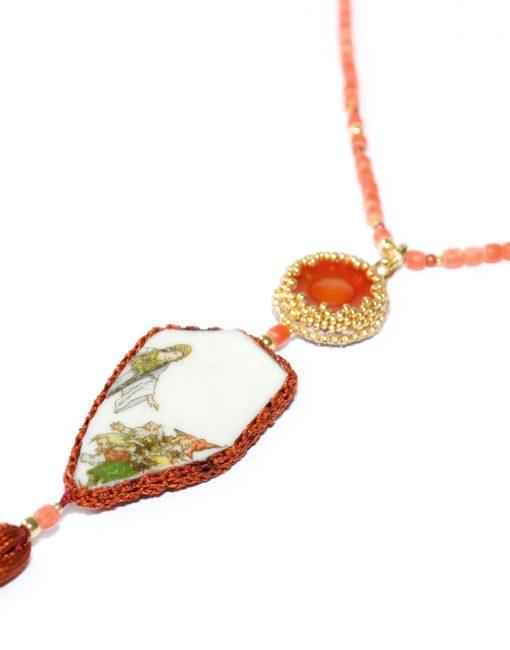 Außergewöhnlicher Unikatschmuck Halskette Schneewittchen